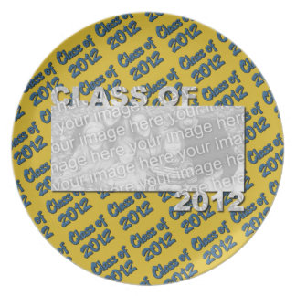 Class of 2012 Cut Out Photo Frame - Blue and Gold Plate