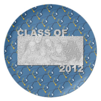 Class of 2012 Cut Out Photo Frame - Blue Caps Dinner Plates