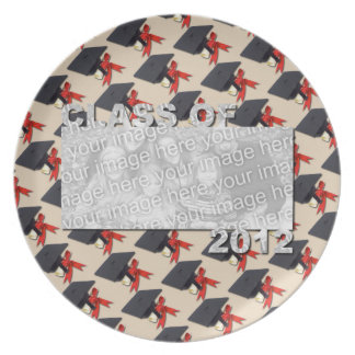 Class of 2012 Cut Out Photo Frame -Cap and Diploma Party Plate