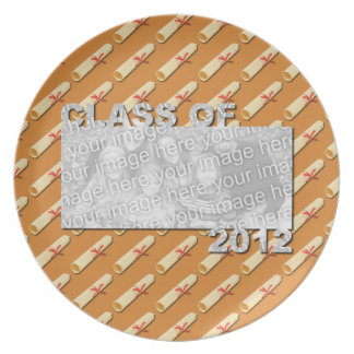 Class of 2012 Cut Out Photo Frame - Diplomas Dinner Plates
