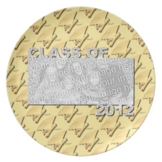 Class of 2012 Cut Out Photo Frame - Gold Caps Party Plate