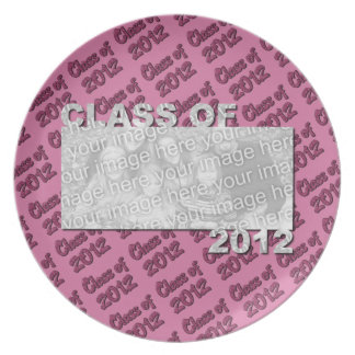 Class of 2012 Cut Out Photo Frame - Pink and Pink Party Plate