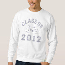 Class Of 2012 Cyclist - Grey 2 D Sweatshirt