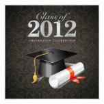 Class of 2012 Damask Graduation Invitation