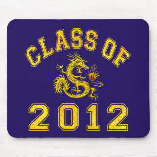 Class Of 2012 Dragon - Gold Mouse Pad