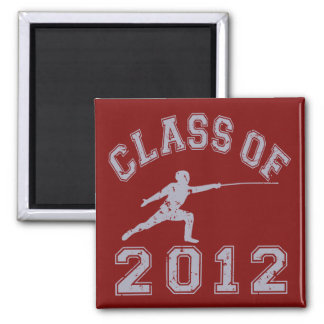 Class Of 2012 Fencing - Grey 2 2 Inch Square Magnet