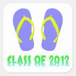 Class Of 2012 Flip Flop - YBGT Square Sticker