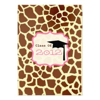 Class of 2012 Giraffe Graduation Invite