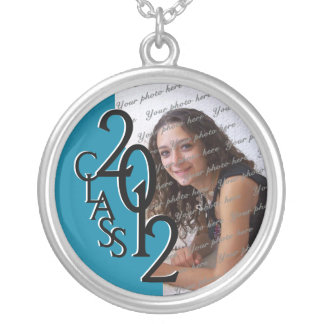 Class of 2012 Grad Photo Silver Plated Necklace