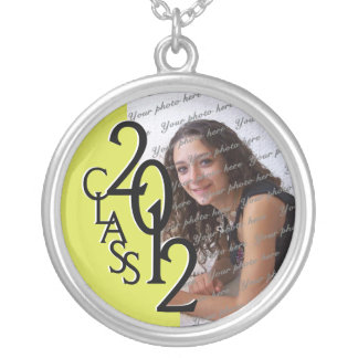 Class of 2012 Grad Photo Yellow Silver Plated Necklace