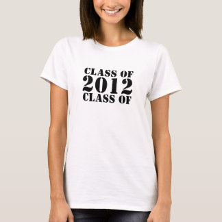 CLASS OF 2012 Graduate T-Shirts for Women