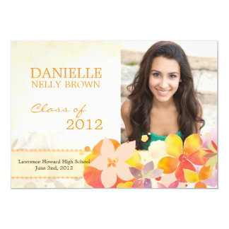 "Class of 2012 Graduation Announcement & Party 5"" X 7"" Invitation Card"