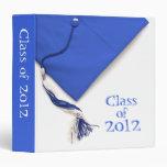 "Class of 2012 Graduation Blue 1.5"" Photo Album Vinyl Binders"