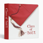 "Class of 2012 Graduation Cap 1"" Photo Album 3 Ring Binder"