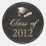 Class of 2012 Graduation Cap & Diploma Seals Stickers