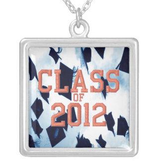 Class of 2012 Graduation Cap Toss Charm Necklace