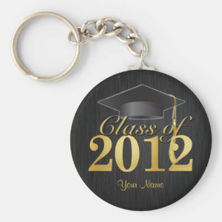 Class of 2012 Graduation Key-Chain (blk & gold) V1 Keychain