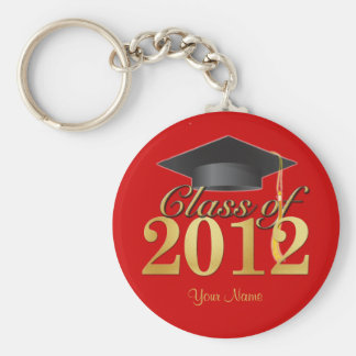 Class of 2012 Graduation Key-Chain (red & gold) Keychain