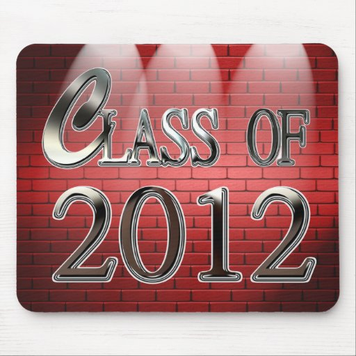 Class Of 2012 Graduation Mousepad Mouse Pad