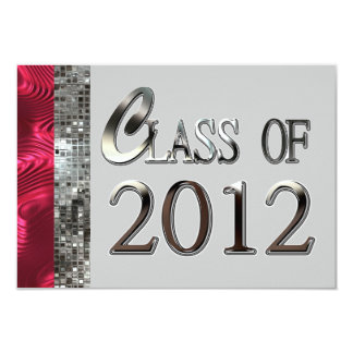 Class Of 2012 Graduation Party Glitter Invitations