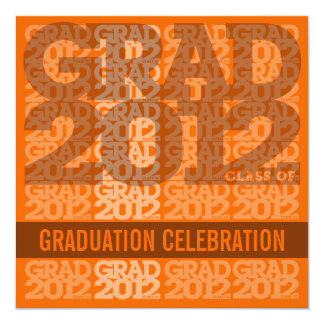 Class Of 2012 Graduation Party Invitation 12OX