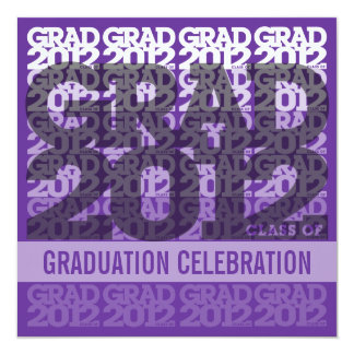 Class Of 2012 Graduation Party Invitation 12PPS