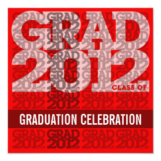Class Of 2012 Graduation Party Invitation 12RS