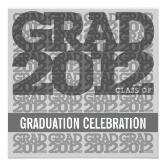 Class Of 2012 Graduation Party Invitation 12SS