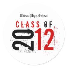 Class of 2012 Graduation Stickers sticker