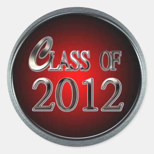 Class Of 2012 Graduation Stickers