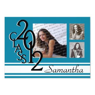 Class of 2012 Graduation Tri Photo Card