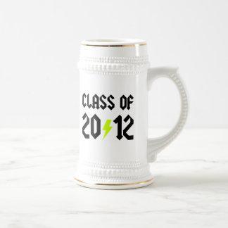 Class Of 2012 Graduation Yellow Bolt Beer Stein