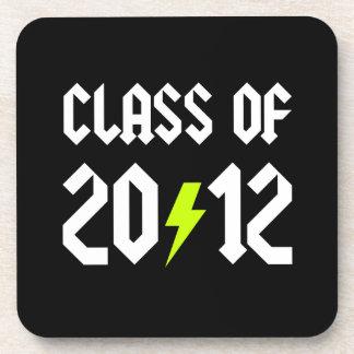 Class Of 2012 Graduation Yellow Bolt Drink Coaster