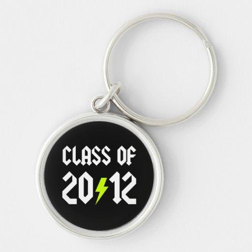 Class Of 2012 Graduation Yellow Bolt Keychains