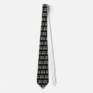 Class Of 2012 Graduation Yellow Bolt Neck Tie