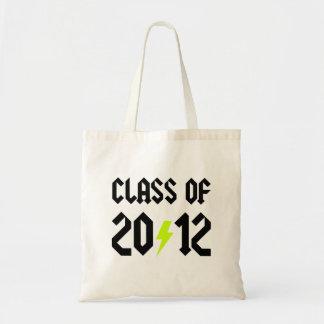 Class Of 2012 Graduation Yellow Bolt Tote Bag
