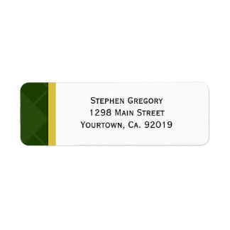 Class of 2012 Green and Gold Graduation Label