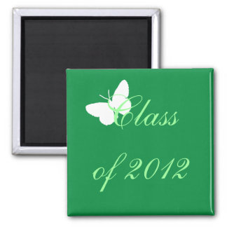 Class of 2012 - Green and White Butterfly Magnet