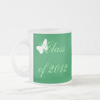 Class of 2012 - Green and White Butterfly Mugs