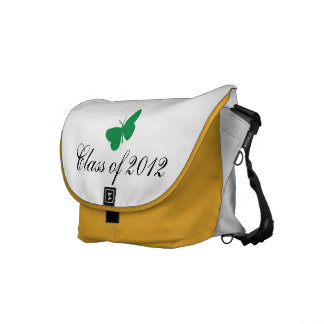 Class of 2012 - Green and Yellow Butterfly Courier Bag