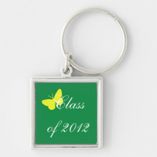 Class of 2012 - Green and Yellow Butterfly Keychain