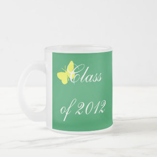 Class of 2012 - Green and Yellow Butterfly Coffee Mugs