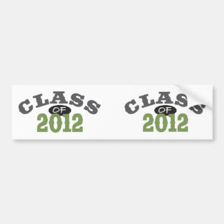 Class Of 2012 Green Bumper Sticker