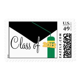 Class Of 2012 (Green Graduation Cap And Tassel) Postage