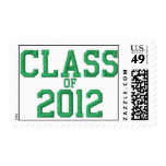 Class of 2012 Green Graduation Postage Stamp