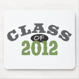 Class Of 2012 Green Mouse Pad