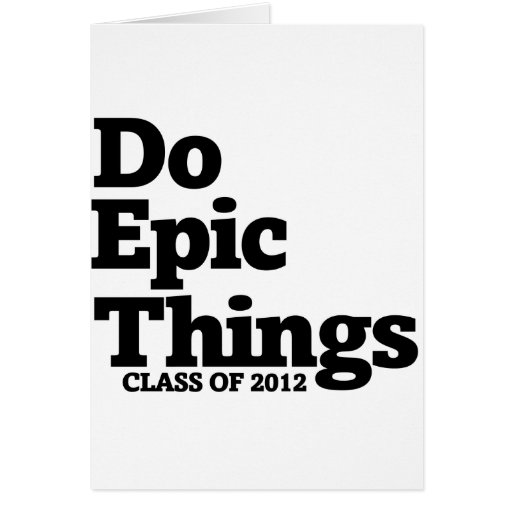 Class of 2012 greeting card