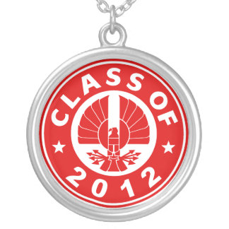 Class Of 2012 Hawk Round Pendant Necklace