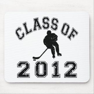 Class Of 2012 Hockey - Black 2 D Mouse Pad