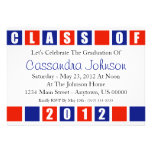 Class Of 2012 Invitation (Blue / Red Boxes)